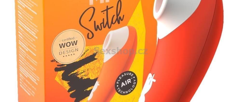 ROMP Switch podtlakový stimulátor na klitoris - oranžový